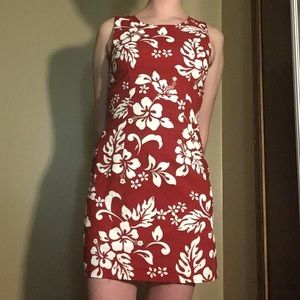 KYS brand red & white tropical flower dress